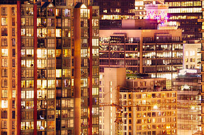 Poster featuring the photograph City Of Vancouver - Golden City Of Lights Cdlxxxvii by Amyn Nasser