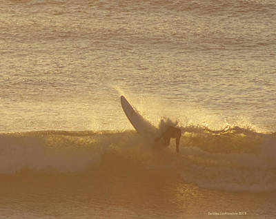 Golden Cutback At Swamis Poster