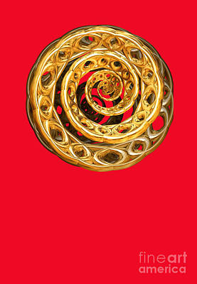 Golden Cycle Of Life By Jammer Poster by First Star Art