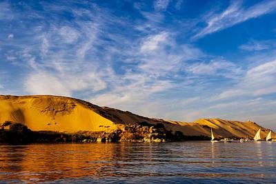 Golden Desert Sands Of The Sahara In Egypt Poster by Mark E Tisdale