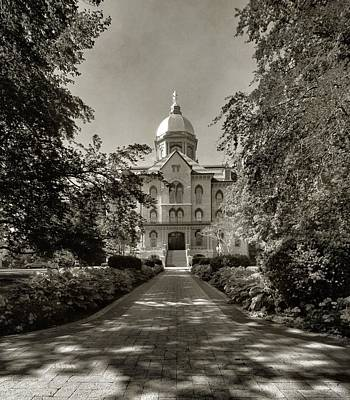 Golden Dome At Notre Dame University Poster