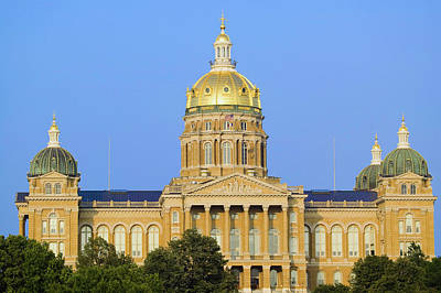 Golden Dome Of Iowa State Capital Poster