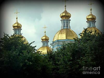 Golden Domes Poster by John Potts
