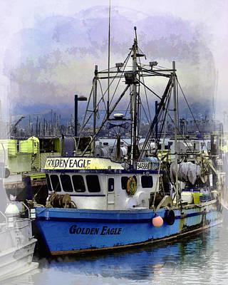 Golden Eagle Fishing Boat Poster