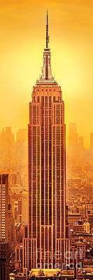 Golden Empire State Poster by Az Jackson