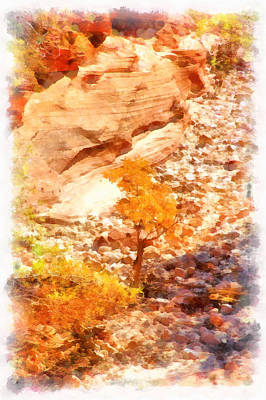Golden Fall In Zion Poster