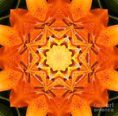 Golden Flower - Abstract - Kaleidoscope2 Poster