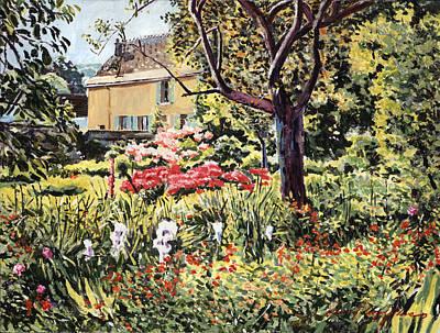 Golden French Country Garden Poster by David Lloyd Glover