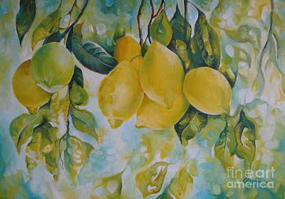 Golden Fruit Poster by Elena Oleniuc