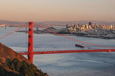 Poster featuring the photograph Golden Gate Bridge And San Francisco 1 by Lee Kirchhevel