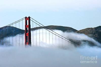 Golden Gate Bridge Clouds Poster