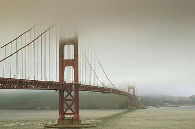 Golden Gate Bridge In The Mist Poster