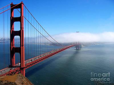 Golden Gate Bridge - Into The Mist Poster by Pete Edmunds