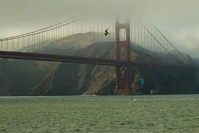 Golden Gate Bridge Poster by Ken Kobe
