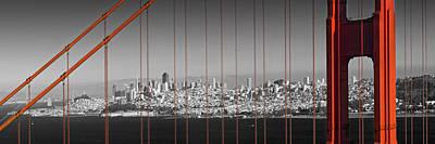 Golden Gate Bridge Panoramic Downtown View Poster