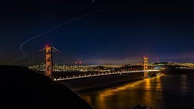 Golden Gate Bridge San Francisco California Poster by Ron Williams