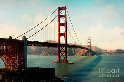 Golden Gate Bridge Poster by Sylvia Cook