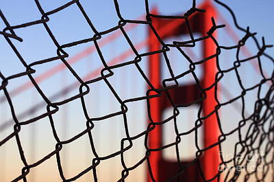 Golden Gate Bridge Through The Fence Poster by Theresa Ramos-DuVon