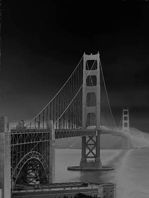 Golden Gate Bridge To Sausalito Poster by Connie Fox