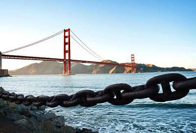 Golden Gate Bridge With Chain Poster