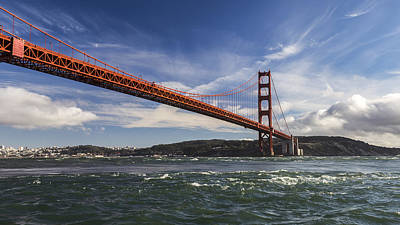 Golden Gate Currents Poster by Hugh Stickney