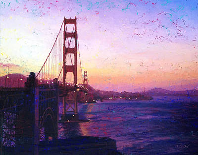 Golden Gate Poster by Gina Tecson
