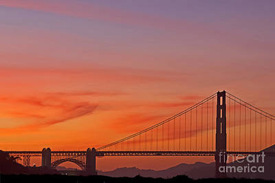 Poster featuring the photograph Golden Gate Sunset by Kate Brown
