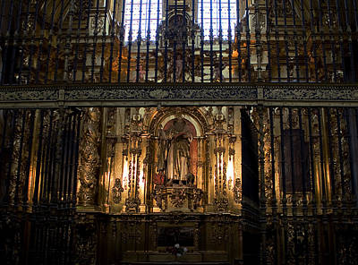 Golden Grills Of Segovia Cathedral Poster