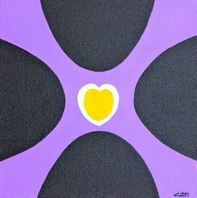 Golden Heart Poster by Lorna Maza
