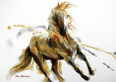 Dorado In White Poster by Jose Espinoza