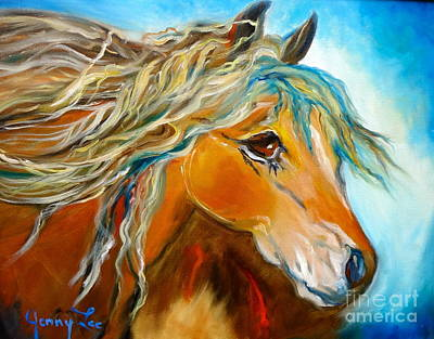 Poster featuring the painting Golden Horse by Jenny Lee