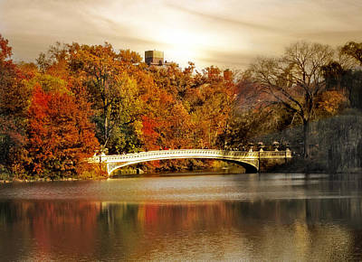 Golden Hour At Bow Bridge Poster by Jessica Jenney