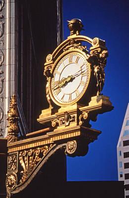 Golden Kaufman's Clock Pittsburgh Poster