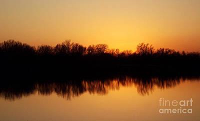 Golden Lake Reflections Poster by R McLellan