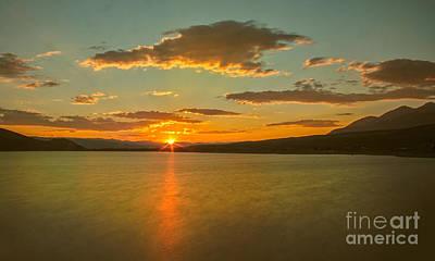 Golden Mackay Reservoir Poster