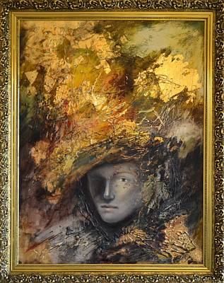 Golden Mask By Mihaela Ghit Poster by Mihaela Ghit