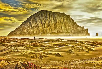 Golden Morro Bay Poster