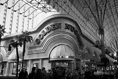 golden nugget casino hotel in freemont street Las Vegas Nevada USA Poster