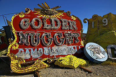Golden Nugget Sign Poster