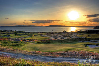 Poster featuring the photograph Golden Orb - Chambers Bay Golf Course by Chris Anderson