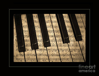 Golden Pianoforte Classic Poster