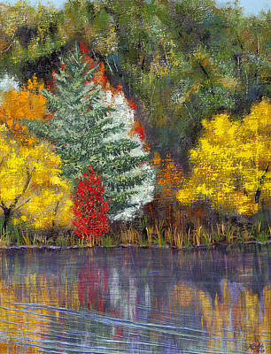 Poster featuring the painting Autumn Tapestry by Margaret Bobb