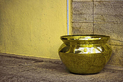 Golden Pot Poster by Prakash Ghai