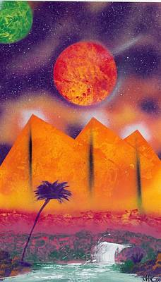 Golden Pyramid Sunrise Poster by Marc Chambers