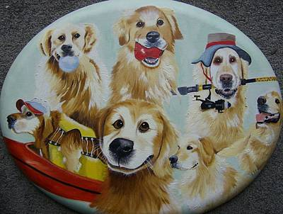 Golden  Retriever Collage Poster