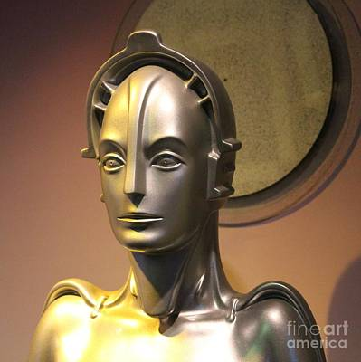 Poster featuring the photograph Golden Robot Lady Closeup by Cynthia Snyder