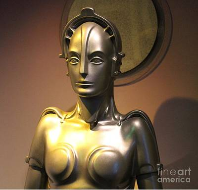 Poster featuring the photograph Golden Robot Lady by Cynthia Snyder