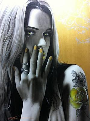 Portrait - ' Golden Rose ' Poster by Christian Chapman Art