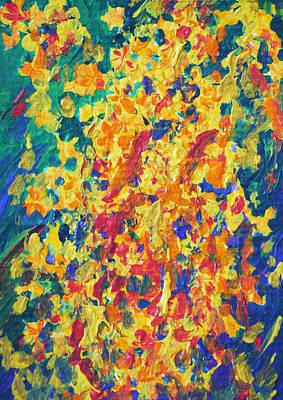 Golden Shower 1 Poster by Benjavisa Ruangvaree