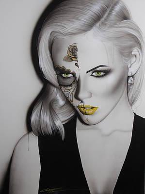Sugar Skull - ' Golden Soul ' Poster by Christian Chapman Art